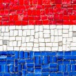 Flag of Netherland mosaic — Stock Photo