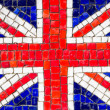 Mosaic of english flag — Stock Photo #36287781
