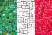 Italian flag mosaic — Stock Photo