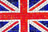 Mosaic of english flag — Stock Photo