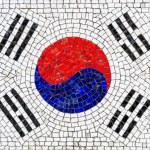 Flag of South Korea mosaic — Stock Photo