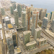 Toronto downtown view from CN tower — Stock Photo