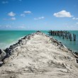 Miami beach dock — Stock Photo