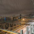 Brooklyn bridge by night,New York — Stock Photo