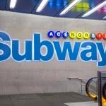 Subway station in New York City — Stock Photo