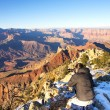 Photographer in action in the Grand Canyon — Stock Photo