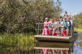 People on airboat in the Everglades,Florida — Stock Photo