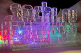 Sochi olympic games ice statue — Stock Photo
