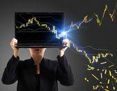 Market explosion — Stock Photo