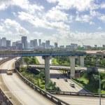 Miami downtown skyline and freeways — Stock Photo #39334767