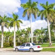 Police car on Miami street — Stock Photo
