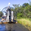 Airboat and Everglades — Stock Photo
