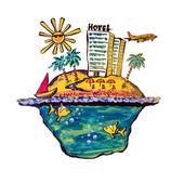 Tropical island — Stock Photo