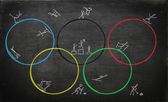 Illustration for olympic games — Foto Stock