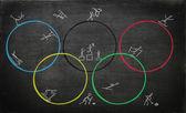Illustration for olympic games — Foto de Stock