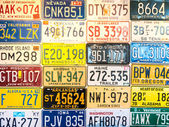 Car plates from United States — Stock Photo