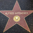 Alfred Hitchcock's star on Hollywood Walk of Fame — Stock Photo #40457271
