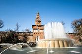 Zamek Sforzów — Zdjęcie stockowe