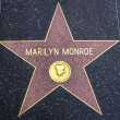 Marilyn Monroe star on Walk of Fame — Stock Photo #40745863