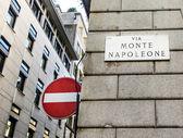 The famous Via Montenapoleone — Stock Photo