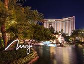 The Mirage and Treasure Island on the Strip,Las Vegas — Stock Photo