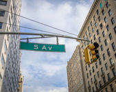 The fifth avenue signboard,New York — Stock Photo