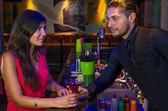 Seductive bartender — Stock Photo