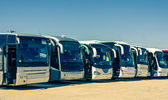 Touristic buses — Stock Photo