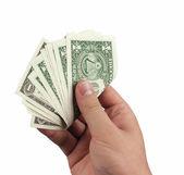 Dólar de explotación de mano — Foto de Stock