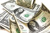 Beautiful banknotes isolated on white background — Stockfoto