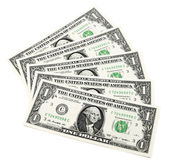Beautiful banknotes isolated on white background — Foto de Stock