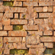 Cracked concrete vintage brick wall background — Stock Photo