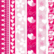 Vector valentine border — Stock Vector