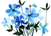 Painting flowers — Stock Photo