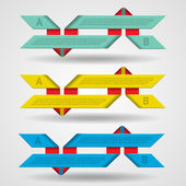 Modern set of ribbons infographics — Vector de stock