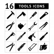 Set of tools icons — 图库矢量图片