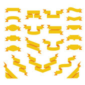 Set di nastri piatte. in stile origami — Vettoriale Stock