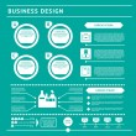 Business infographic template. Flat design set — Stock Vector