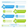 Web infographics elements. Design template — Imagen vectorial