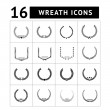 Laurel wreath and modern frames icon set — Stock Vector