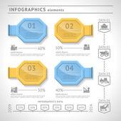 Endüstriyel infographics elemanları. modern tasarım şablonu. Web veya grafik düzeni — Stok Vektör
