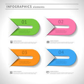 Infographics elements. Design template. Graphic or website colorful layout — Stock Vector