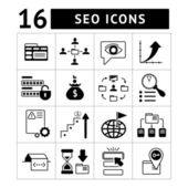 Set of SEO, web and internet icons — Stock Vector