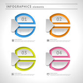 Abstract infographics elements. Modern design template. Web or graphic layout — Stock Vector