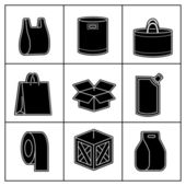 Set of package icons — Stock Vector