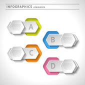 Elementos de infográficos de negócios. modelo de design moderno. Resumo da web ou layout gráfico — Vetor de Stock