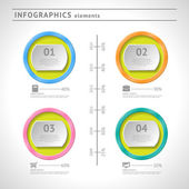 Business infographics elements. Circle design template. Abstract web or graphic layout — Stock Vector