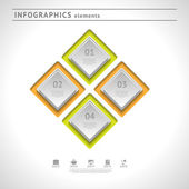 Business infographics elements. Modern design template. Abstract web or graphic layout — Stock Vector