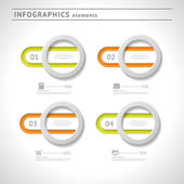 Business infographics elements. Modern design template. Abstract web or graphic layout — Stockvektor