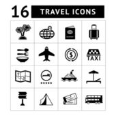 Set icons of travel, tourism — Stock Vector